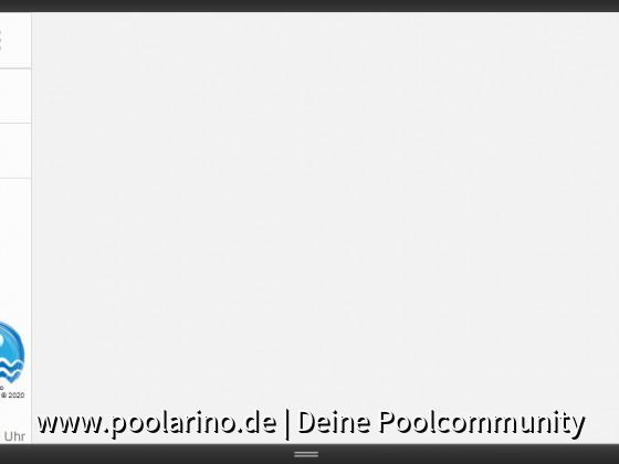 Poolarino Poolsteuerung - Der Startbildschirm