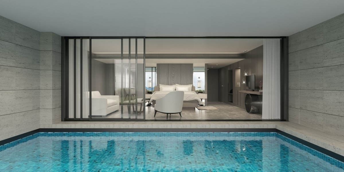 Appartement with pool in patio